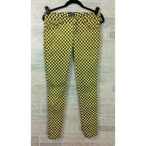 TRIPP NYC Yellow Black Check Jeans Pants Size 7